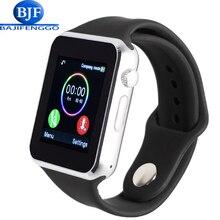 Envío libre reloj del bluetooth de smart watch deporte podómetro con sim cámara de la tarjeta sd para android smartphone correa de silicona t2