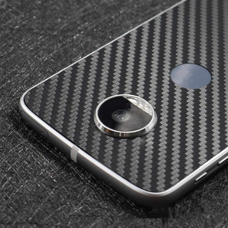 Yeni 3D Karbon Fiber Skins koruyucu film Wrap Cilt Cep Telefonu arka macun koruyucu film Sticker Motorola Moto Z Için/Moto Z oyun