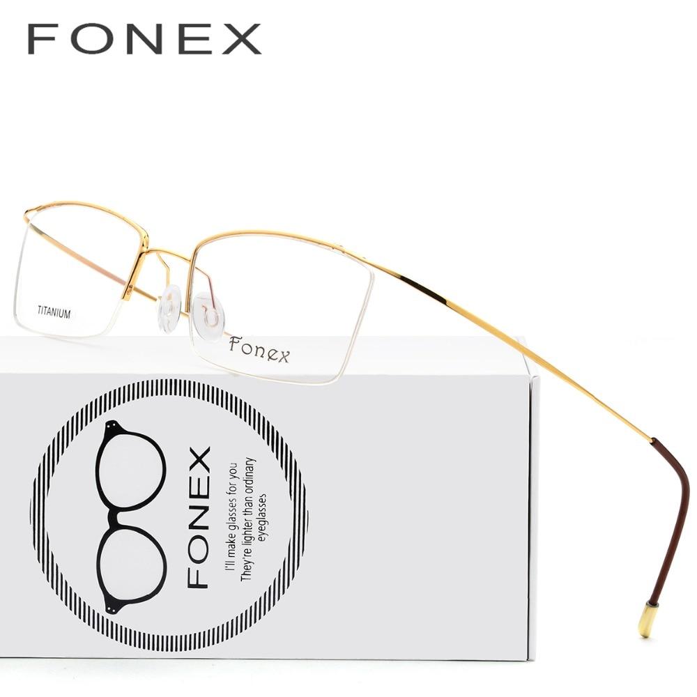 Verantwortlich Titan Brille Rahmen Männer Ultraleicht Männlichen Rezept Brillen Frauen 2018 Halb Myopie Optische Rahmen Koreanische Schraubenlose Brillen Einfach Zu Reparieren Brillenrahmen Herren-brillen