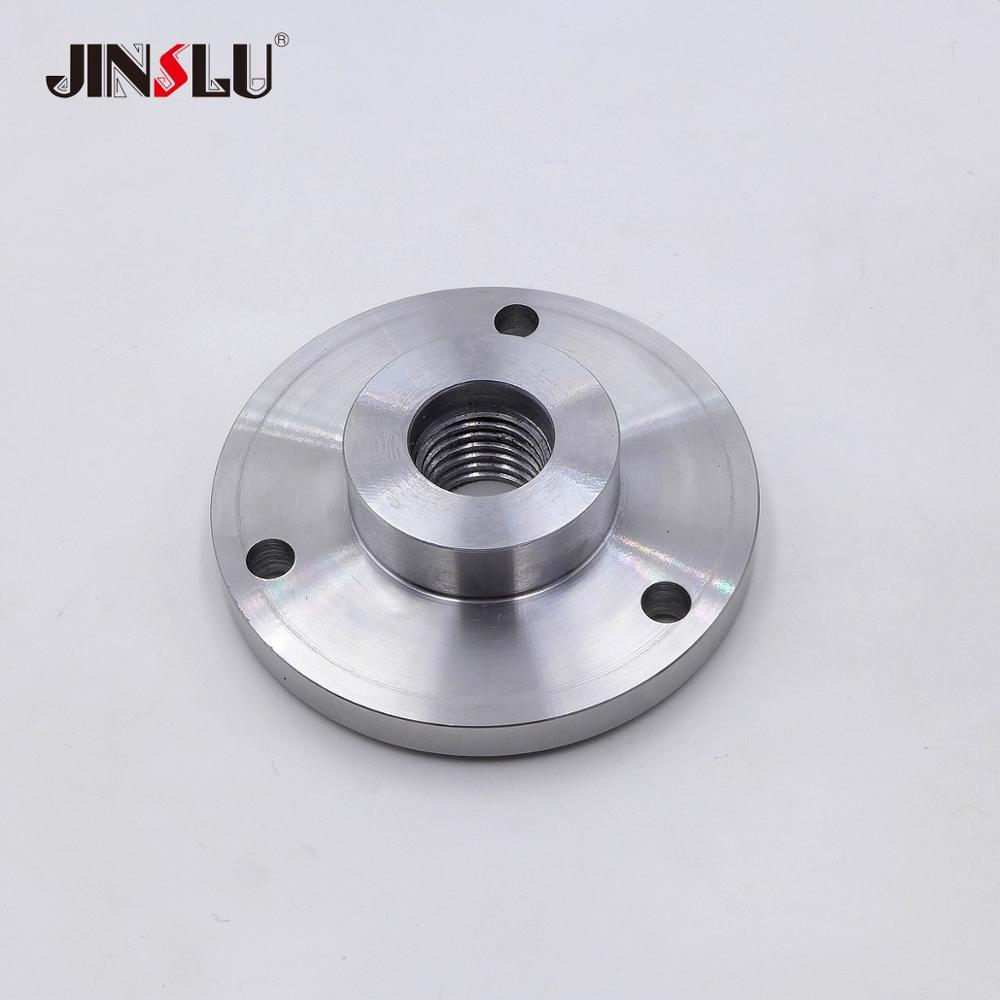 1-8 TPI Spindle Thread Chuck Flange Back Plate Base Plate Adapter Plate For K11-100 K12-100 100mm 3 Jaws 4 Jaws Chuck