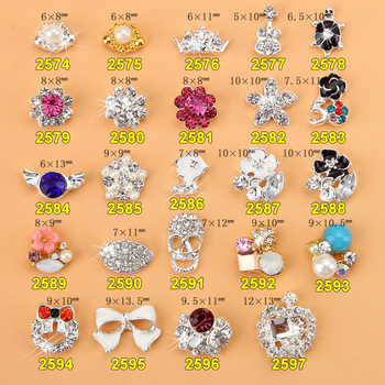 Wholesale 500x Professional Production 3D Alloy Nail Art Decoration Glitters Rhinestones- AAAgrade Rhinestones Nail Bow - DISCOUNT ITEM  8% OFF All Category