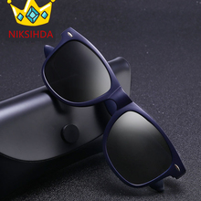 NIKSIHDA 2019 New Men's Fashion Classic Polarized Sunglasses Box Sports Sunglasses Brilliant Retro Brand Sunglasses niksihda 2019 european and american pop polarized sunglasses fashion sunglasses anti ultraviolet sunglasses uv400