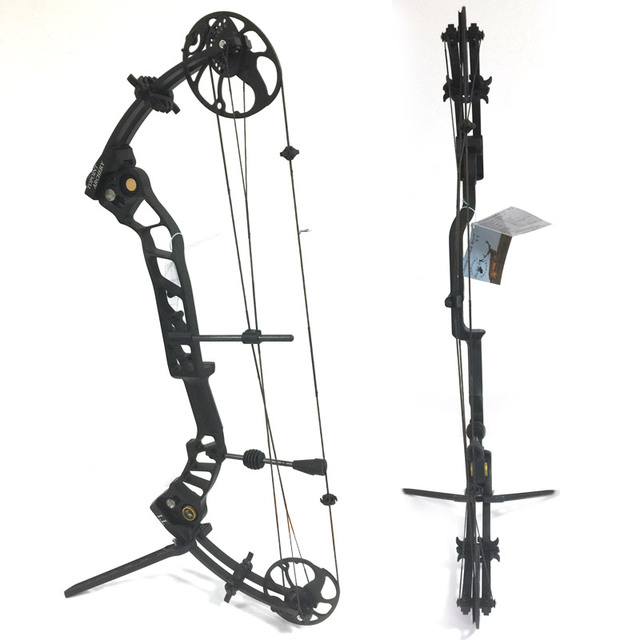 Topoint Archery Left hand bow, compound bow,With 20-70 lbs Draw Weight, black color for human outdoor hunting, Archery bow 1