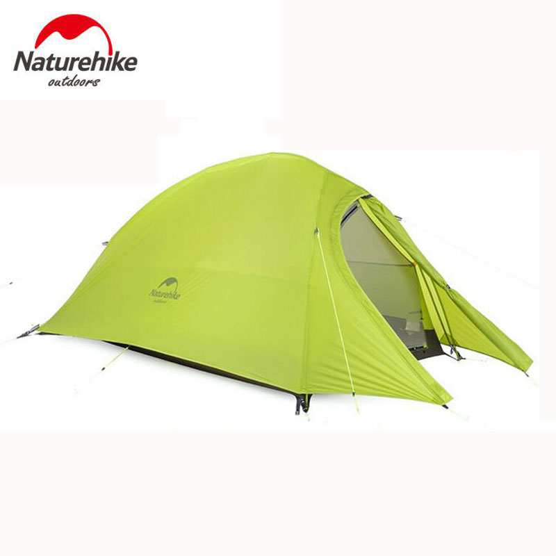 Naturehike 2 Person Rainproof Tents Ultralight 20D Silicone Double Layers 4 Season Hiking Camping Tent Outdoor Winter Equipment naturehike outdoor camping 2 person tent 20d silicone ultralight 3 season tent double layer 2 people hiking fishing picnic tents