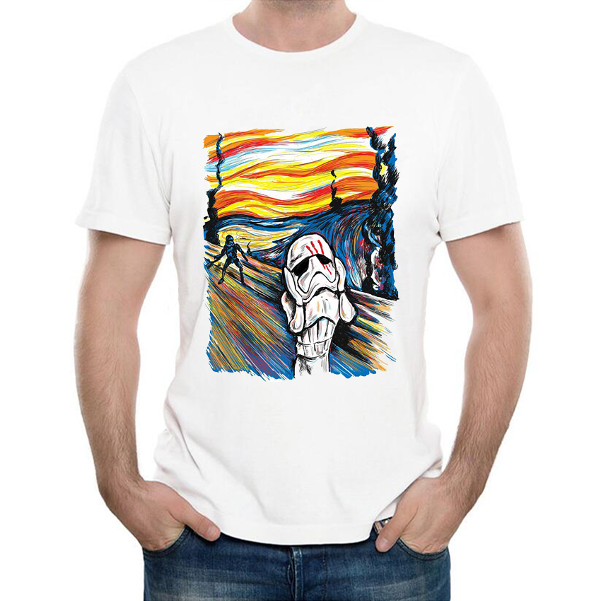 2017 Fashion Creative Star Wars Darth Vader T Shirt Funny Men's Customied Stormtrooper T-Shirt Summer Hipster Cool Tee Tops