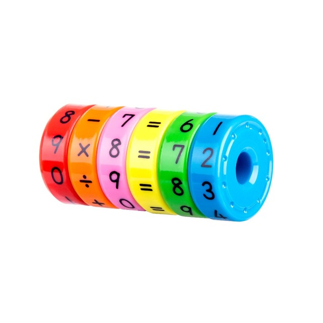 Rotatable Math Toy for Preschoolers with Interchangeable Pieces