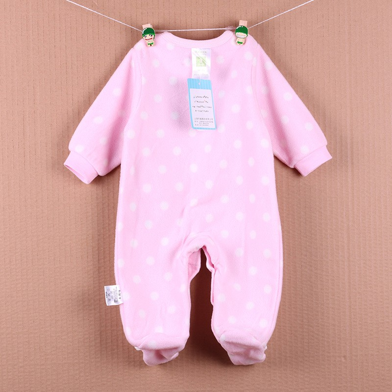 New Arrival Baby Footies Boys&Girls Jumpsuits Spring Autumn Clothes Warm Cotton Baby Footies Fleece Baby Clothing Free Shipping (19)