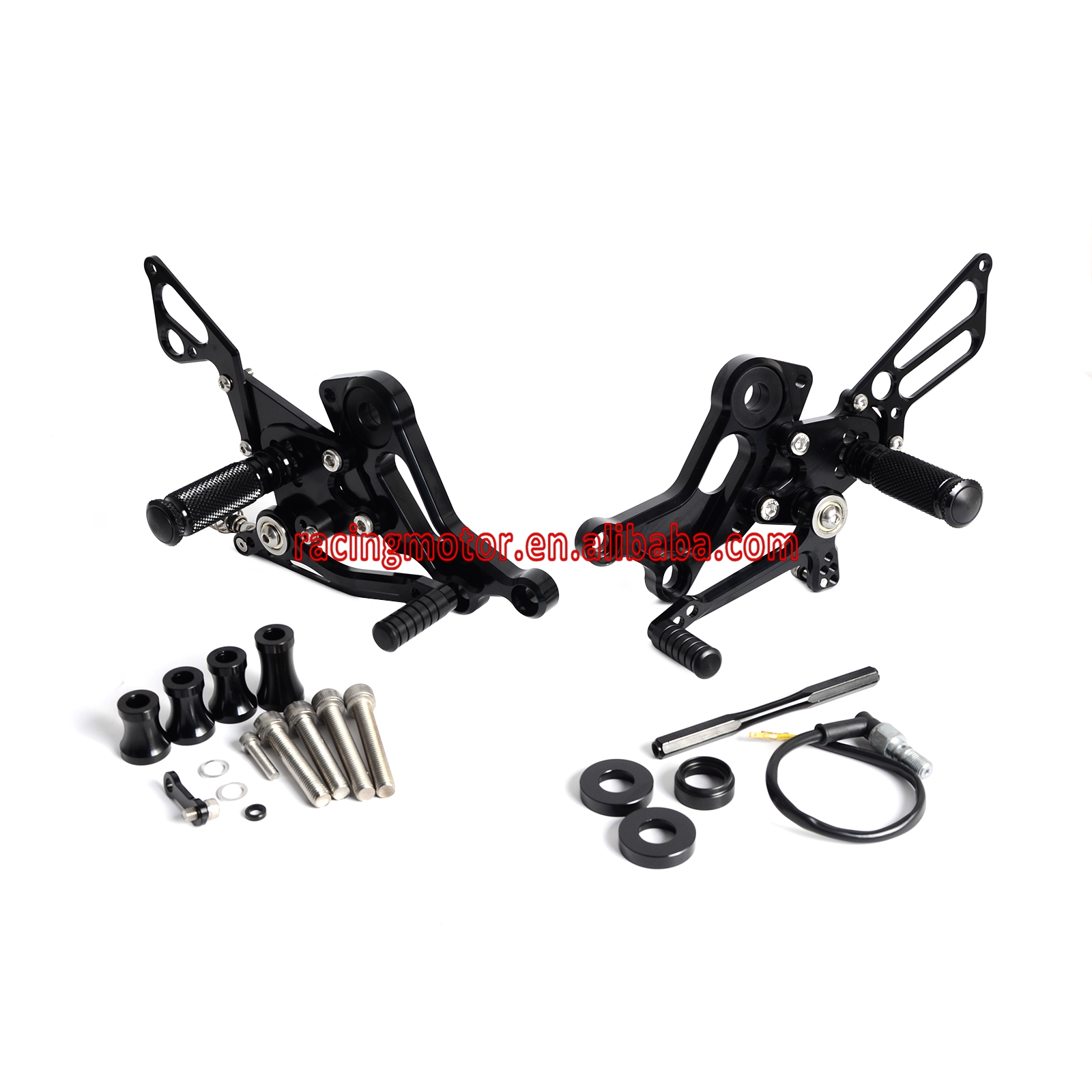 CNC Rear Sets Footrests for Ducati Monster 696 2008 2013