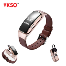 YKSO Bluetooth Inteligente banda banda Conversa Resposta Chamada Dail pulseira Chamada B3 Plus Monitor de Freqüência Cardíaca Banda Conversa Inteligente para huawei telefone