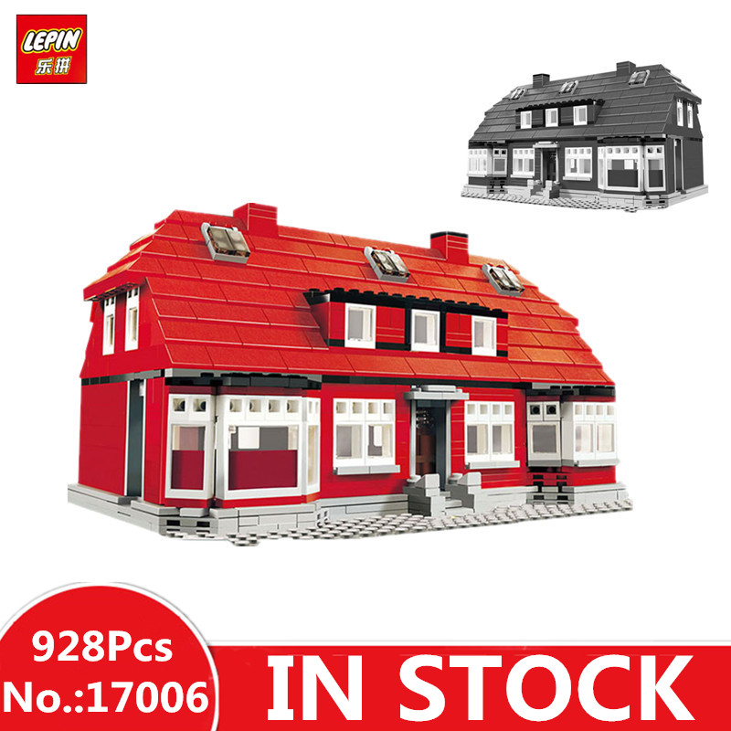 New Lepin 17006 928Pcs Serier The Red House Set 4000007 Education Building Kits Blocks Bricks Model Children Funny Toys Gift lepin creator home 17006 928pcs the red house set model 4000007 building kits blocks bricks educational toys for children gifts