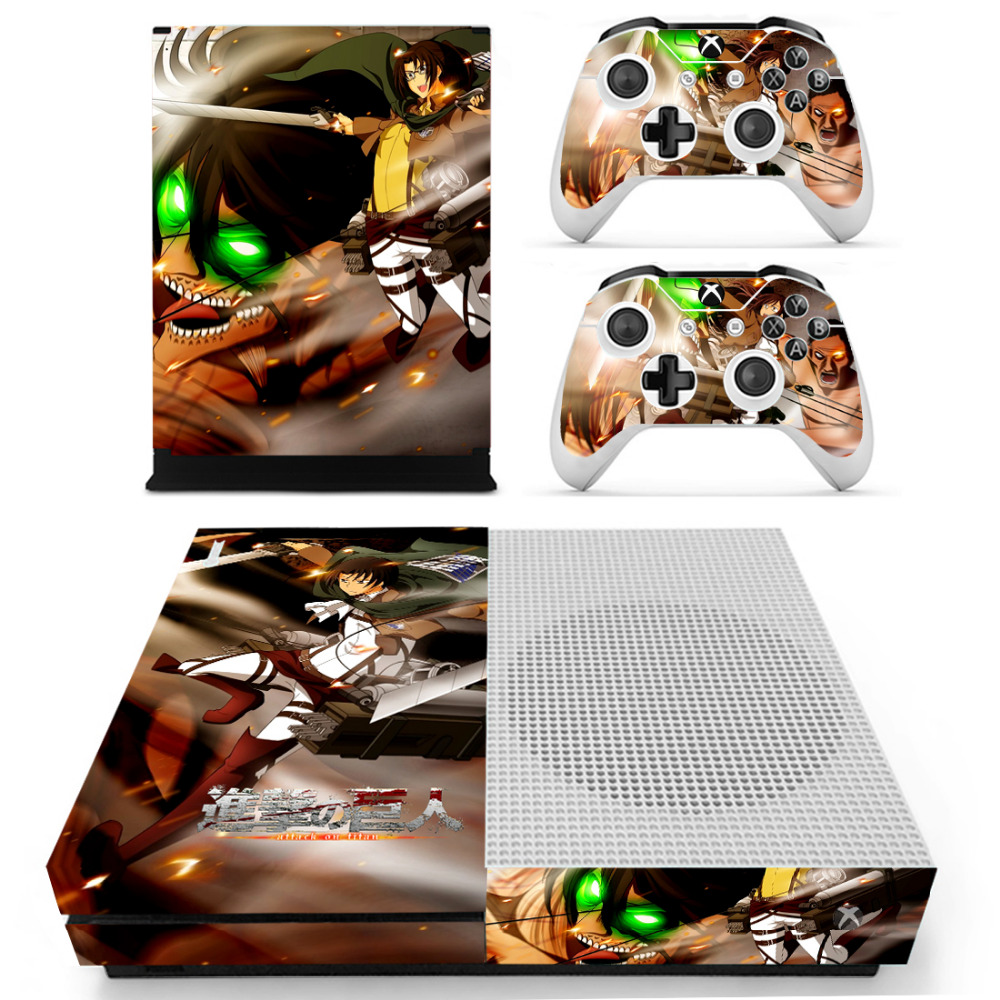Attack On Titan Skin Sticker Decal For Microsoft Xbox One S Console and Controllers Skin ...