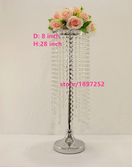 Acrylic Crystal Wedding Centerpiece 70CM Tall Main Table Flower Stand Small Road Lead