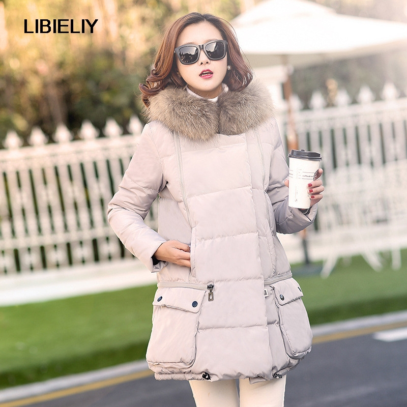 New Winter Jacket Women Fashion Fur Collar Down Wadded Coat Large Size Parkas Women Hooded Jackets Fashion Casual Coats C1152