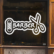 Cartoon Barber Wall Sticker Vinyl Wallpaper For Hairstyle Rooms Stickers Decor Art MURAL Commercial Decals