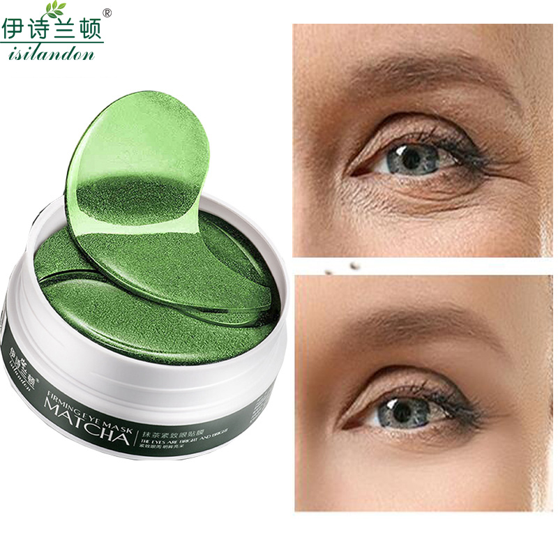 Isilandon Matcha Crystal Eye Mask Gel Eye Patches 60pcs Eye Care Sleep Masks Remover Dark Dircles Anti Age Bag Eye Wrinkle Aromatic Character And Agreeable Taste Skin Care