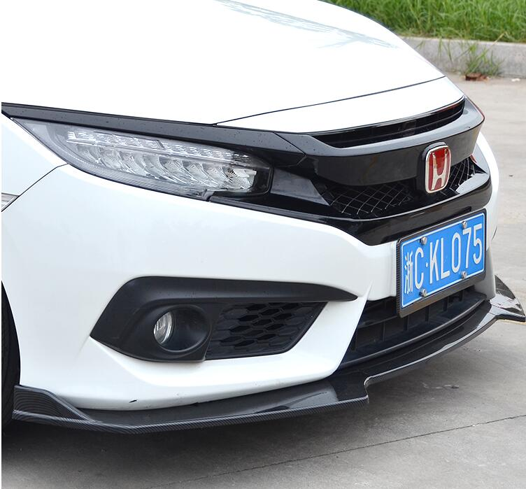JIOYNG ABS Front Bumper Lip Spoiler Diffuser Cover For 16