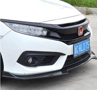 JIOYNG ABS Front Bumper Lip Spoiler Diffuser Cover For 16 18 HONDA CIVIC 2016 2017 2018 By EMS 3PCS/SET