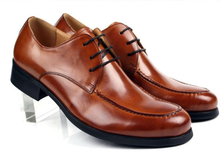 Large size EUR45 fashion black / brown tan / brown mens dress shoes genuine leather wedding shoes mens business shoes
