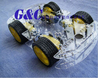 NEW 4WD Robot Smart Car Chassis Kits Car With Speed Encoder
