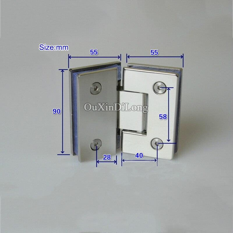 Caliente 2 unids 304 Acero inoxidable ducha sin marco vidrio ...
