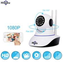 Hiseeu 1080 P IP Камера Беспроводной дома безопасности IP Камера Камеры Скрытого видеонаблюдения Wi-Fi Ночное видение CCTV Камера Видеоняни и радионяни 1920*1080