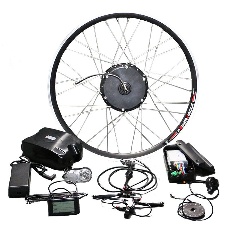 Powerful 48V10Ah Battery 350W Motor Electric Bike Kit for 26 700C Wheel with PAS bldc Controller LCD900 Display Suitable