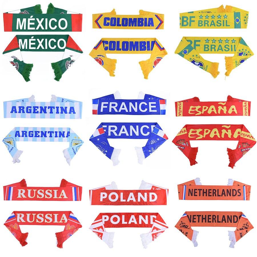 Welt Fußball Fußball Schal Fußball Fan Schal 32 Teams Mexiko Flag Banner Fußball Cheerleaders Schal Souvenir
