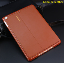 Nice real Premium genuine leather case for apple 2017 new ipad air