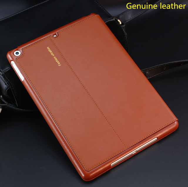 Nice Real Premium Genuine Leather Case For Apple 2017 New Ipad