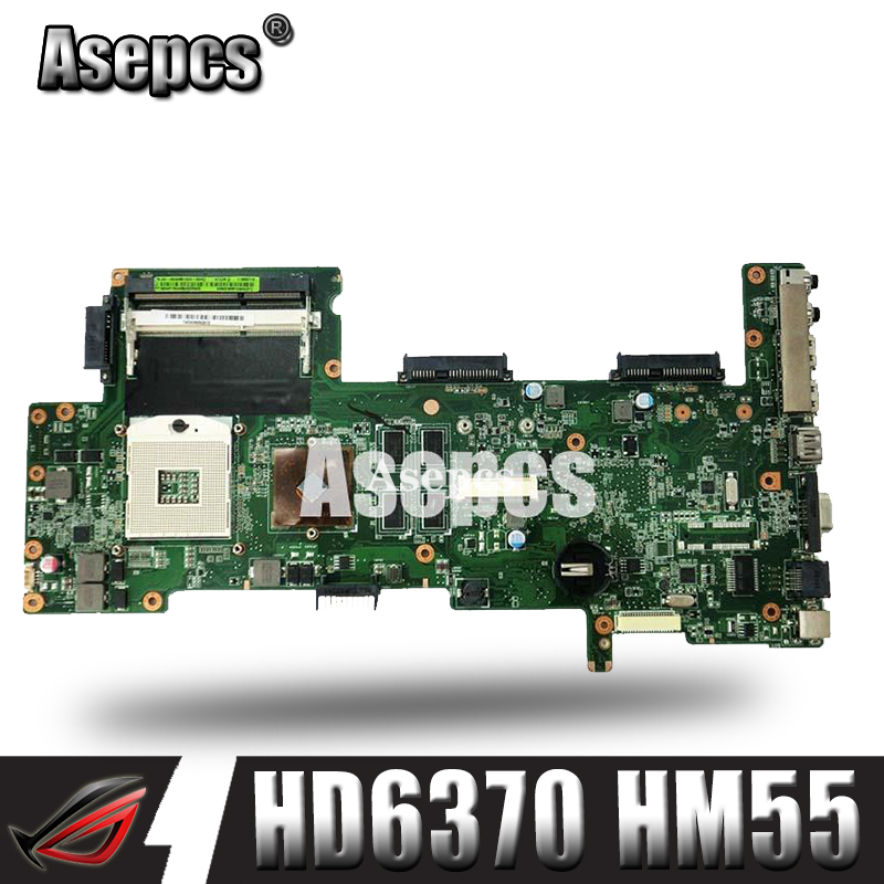 Asepcs K72JT Laptop motherboard for ASUS K72JR K72JT K72JU K72J K72 Test original mainboard HD6370 HM55