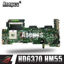 Asepcs K72JT материнская плата для ноутбука ASUS K72JR K72JT K72JU K72J K72 Тесты оригинальная материнская плата HD6370 HM55