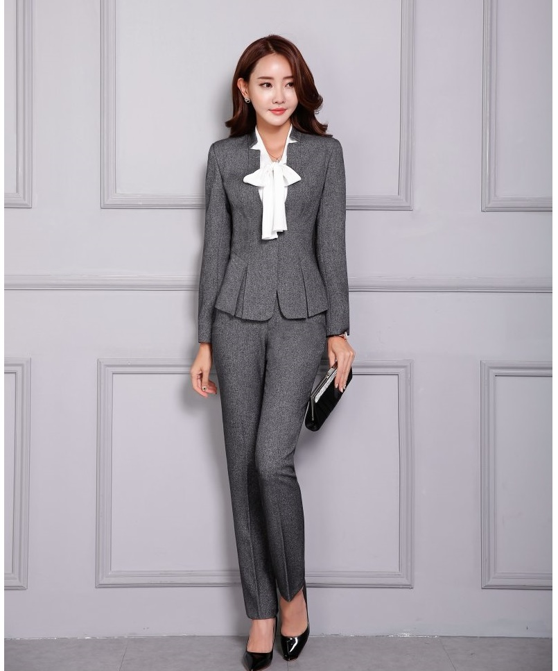 Suits & Sets New 2019 Formal Navy Blue Blazer Women Pant Suits Work Wear Ladies Business Jacket Sets Office Uniform Styles Ol 100% Guarantee Pant Suits