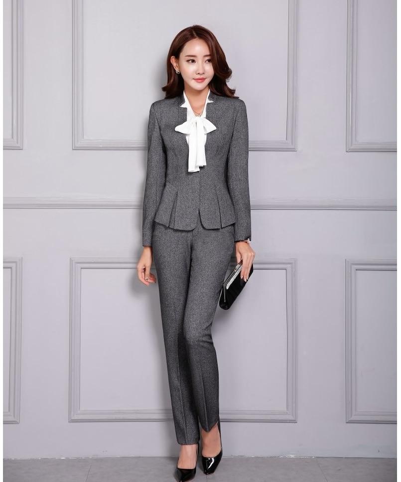Grey Pants Suit Promotion-Shop for Promotional Grey Pants Suit on ...