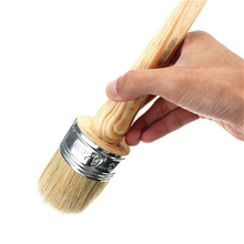 Меловая краска, восковая кисть для окрашивания или восковой деформации мебели, трафареты для домашнего декора, деревянные Большие кисти с натуральной щетиной