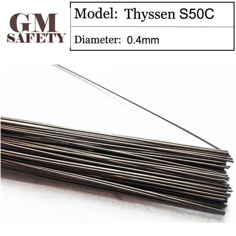 GM Safety Laser Welding Wire Weld Material Thyssen S50C of 0.4mm Laser Welding Wire for Welders 200pcs in 1 Tube T03347