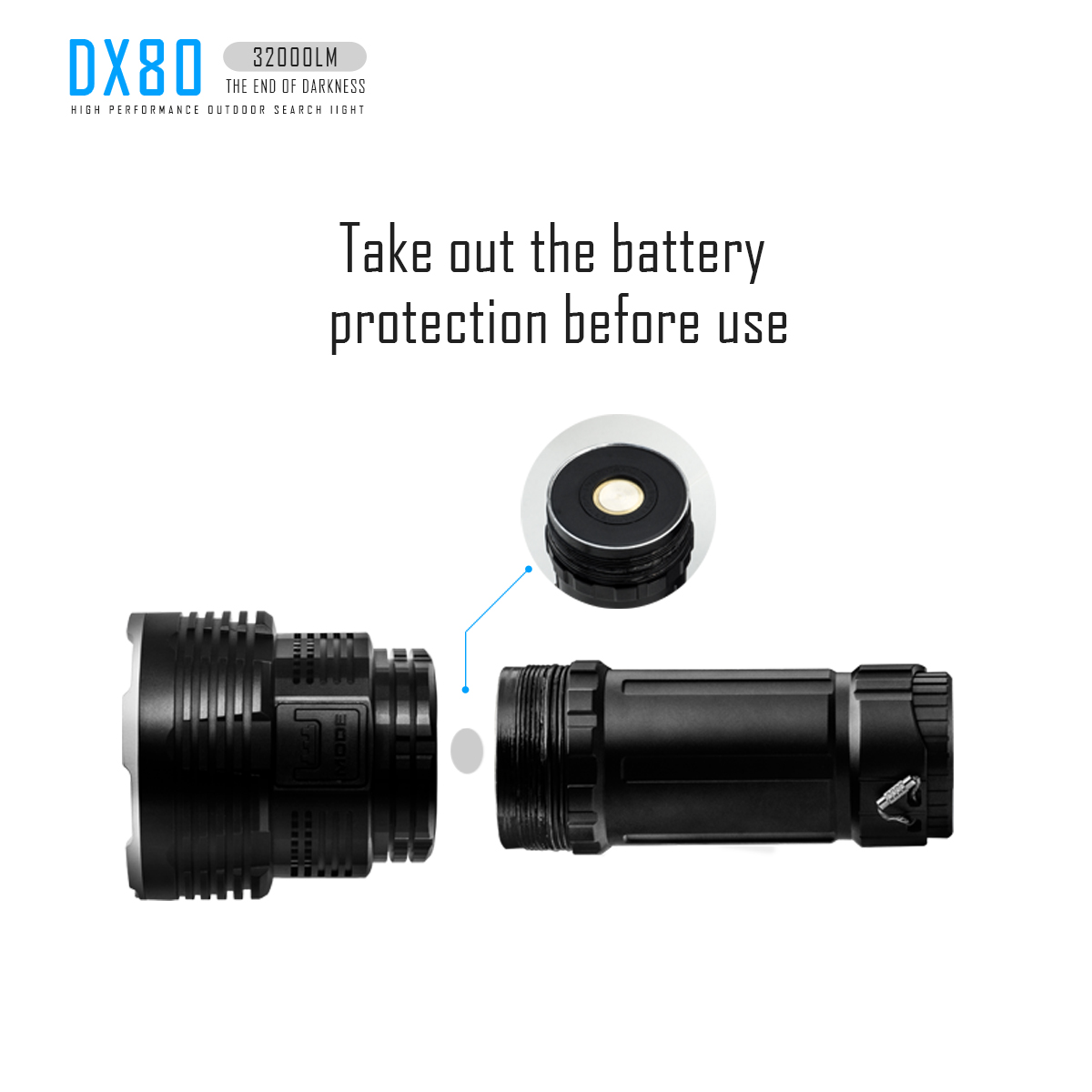 Купить с кэшбэком Imalent DX80 Flashlight Power meter Cycling Lanternas de led de alta potencia Cycling Outdoor Torch cilcismo Camping High Power