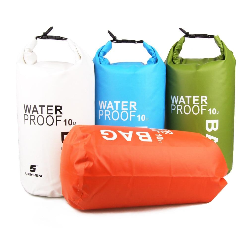 folding waterproof Portable 10L Waterproof Bag Storage Dry Bag for Canoe Kayak Rafting Mobile phone camera mochila running