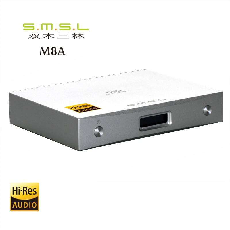 цена на 2017 SMSL M8A DAC DSD512/768kHz HIFI Audio Decoder Amplifier USB Receive XCroe200 Xu208+ES9028Q2M Coaxial/XMOS Asynchronous