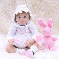 SanyDoll 20 inch 50 cm Silicone baby reborn dolls, doll reborn Lovely Beautiful princess dress doll holiday gift