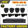 8 Channel Kit Video Surveillance Cctv System 700TVL Waterproof Cameras And Dome Cameras DVR Recorder 8
