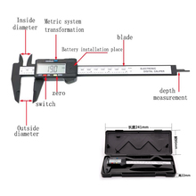 New Arrival 150mm 6 inch LCD Digital Electronic Carbon Fiber Vernier Caliper Gauge Micrometer Measuring Tool