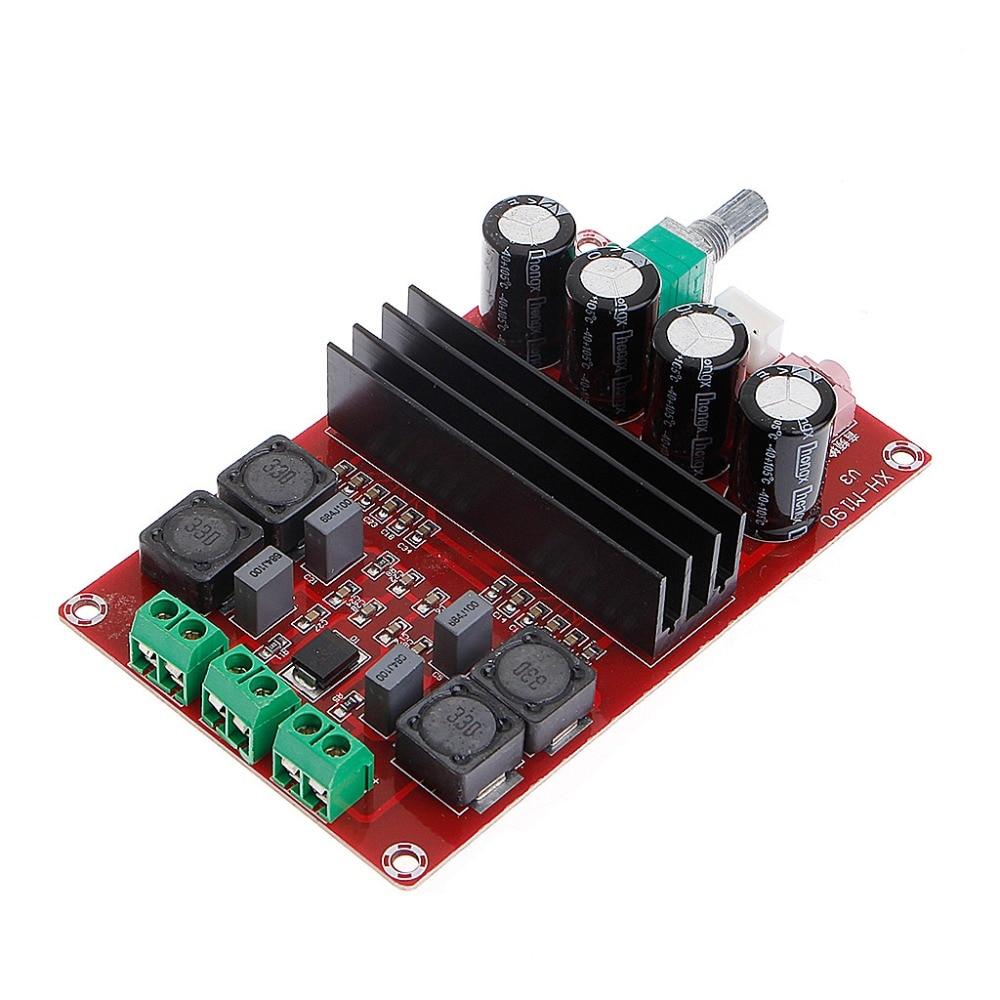 TPA3116D2 2x100 W 2 ערוץ הדיגיטלי של מגבר לוח שמע 12-24 V DIY מודול ספק כוח DC מתח גבוה 2 ערוץ חום נמוך