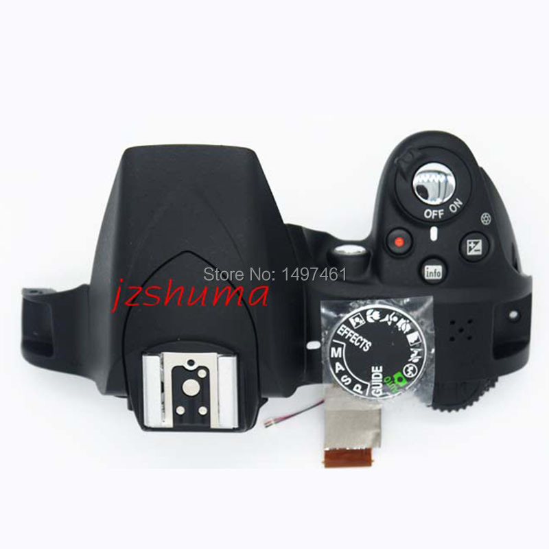 New original Top cover assy with flash and buttons for Nikon D3300 SLR camera free shipping camera top cover fornikon d80 new original