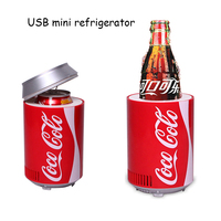 Mini usb Fridge Cooler Heater Cola bottle Dual Use Home Dormitory DC 5V 12V Car Office Refrigerator Computer Wine Cooler