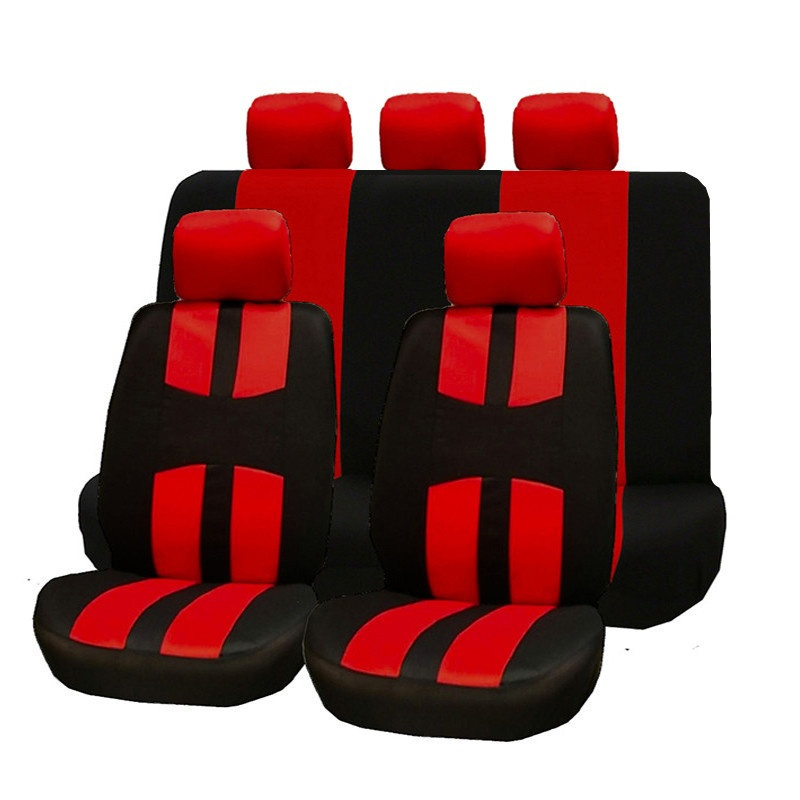 9PCS Universal Car Seat Covers Full Car Seat Four Seasons Chair Cover Protector Car Front Seat Back Seat Pads Car Accessories