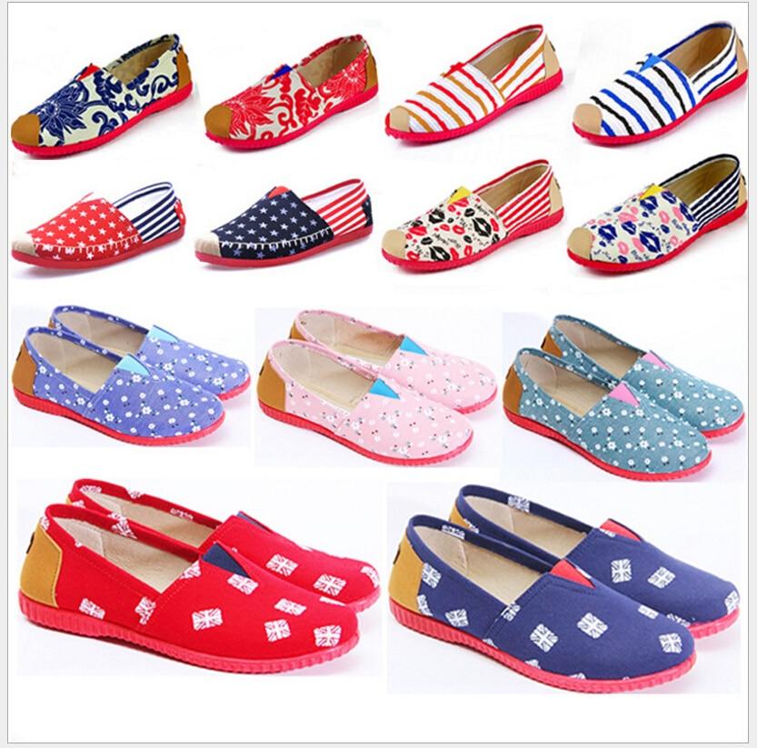 2017 Fashion New Cotton Canvas Women Flat Shoes old Beijing cloth shoes old beijing shoes new women s cotton