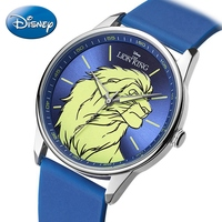 Lion King Brave Simba Teen Luxury Disney Children Quartz Watch Boy Silicone Band Waterproof Watches Child Fashion Student Clocks
