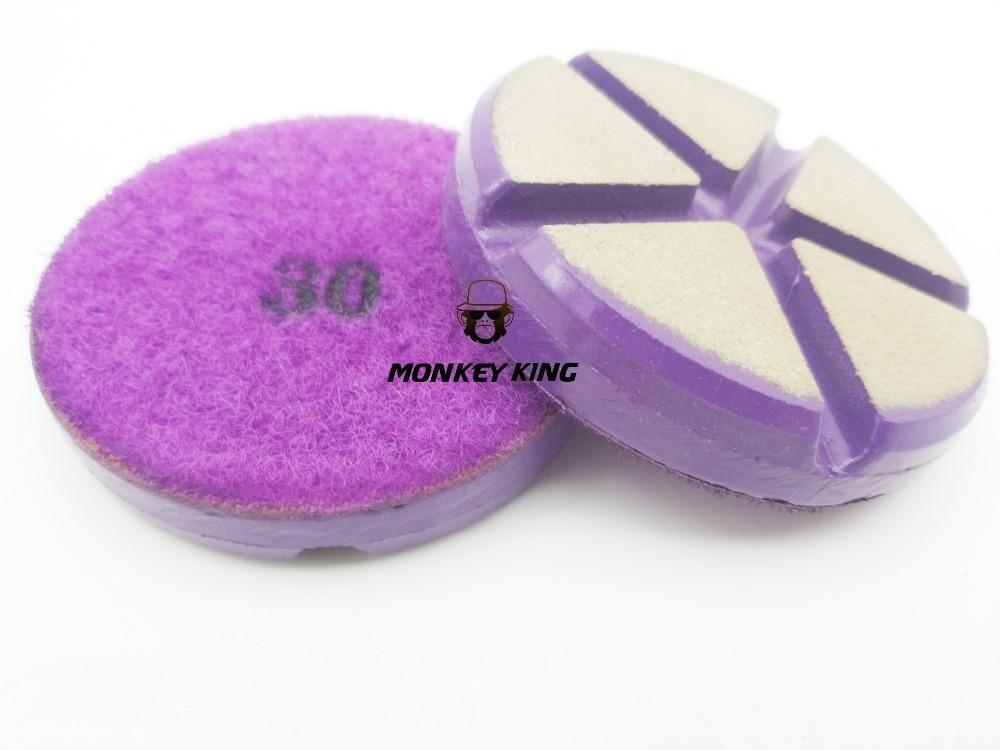 3 Inch 80mm Ceramic Resin Bond Diamond Grinding Disc Stone Floor Polishing Pads for Marble Granite Concrete (1)