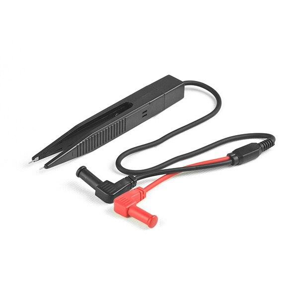 Superbat SMD Prueba Pinzas Clip de Cable de Prueba de Plomo Cable de La Sonda con Manga Larga 4mm Enchufe de Plátano para el medidor LCR Multímetro NUEVA