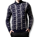 2016 New Men Sweaters and Pullovers Men's Casual Fashion Slim Fit Large Size long Sleeved V Neck Knitted Male Fashion Sweaters